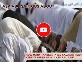 How Many Takbeers of Eid Prayers?
