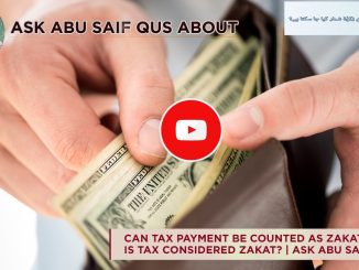 Can Tax Payment be Counted as Zakat?
